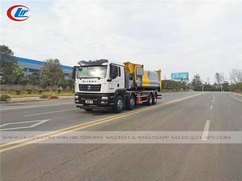 シノトラックシトラック 25 tons garbage compression station truck
