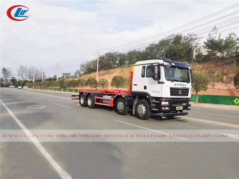 ساينو تراك 25 طن شاحنة ضغط القمامة شاحنة