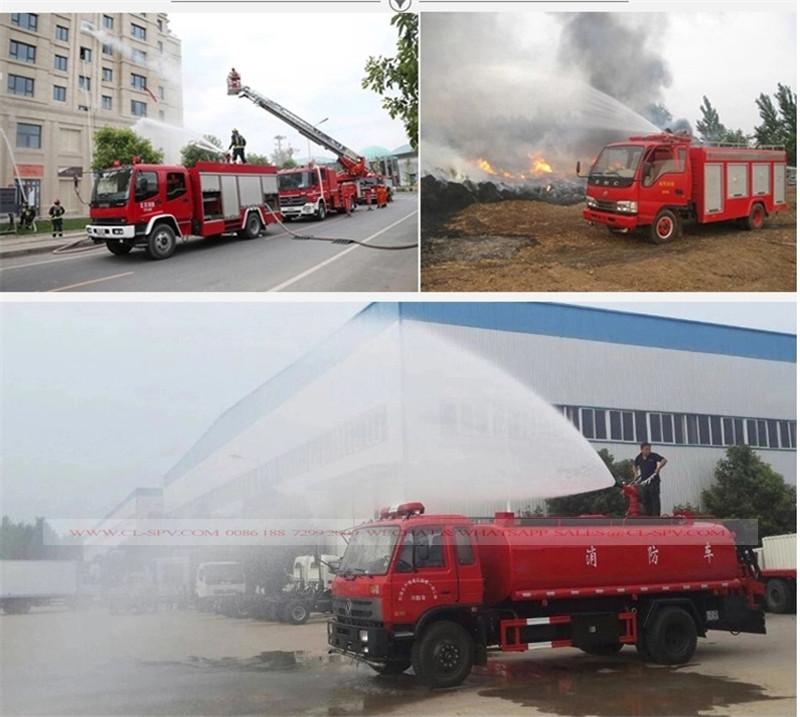 Inspection de test du camion de lutte contre l'incendie