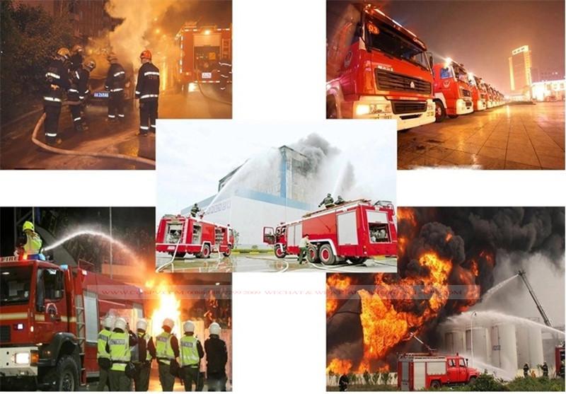 Inspección de prueba de camión de bomberos