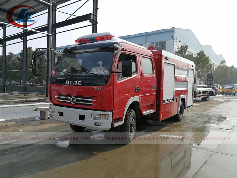 China dongfeng 3cbm water tank fire fighting truck