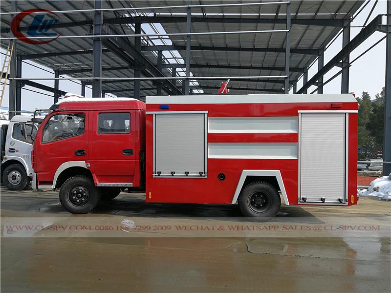 China DFAC 3cbm Wassertank Feuerwehrwagen