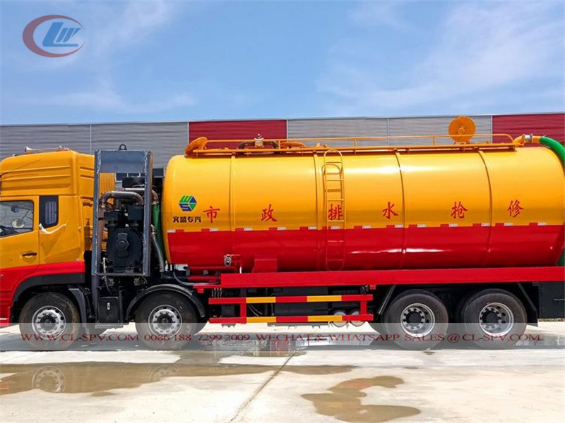 Dongfeng VL 20 cbm vacuum sewage suction & cleaning truck