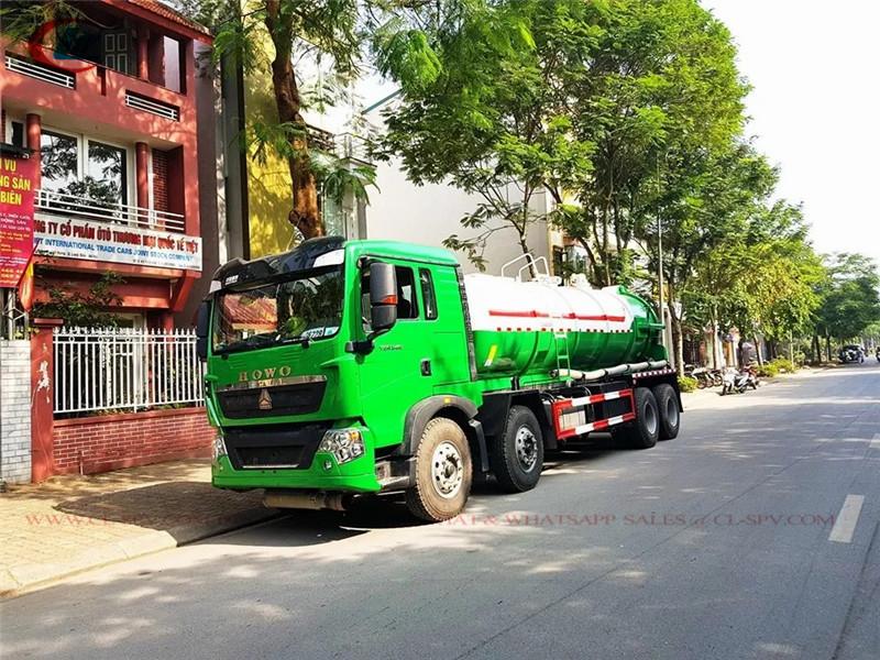 شاحنة شفط مياه المجاري فراغ هووا 8 × 4 20cbm