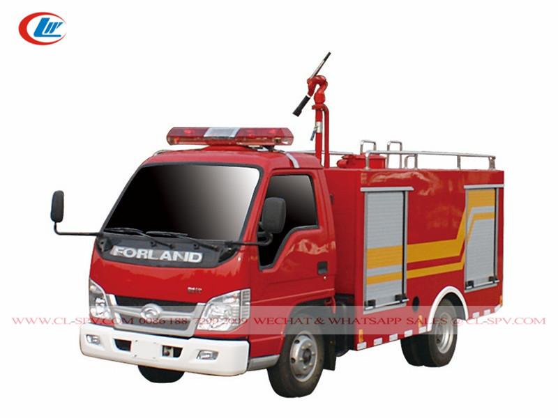 Mini caminhão de bombeiros Foton forland 2000L
