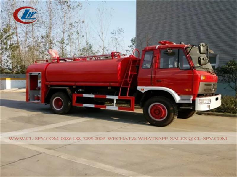 دونغفنغ 7500 L صورة شاحنة إطفاء المياه المعلقة