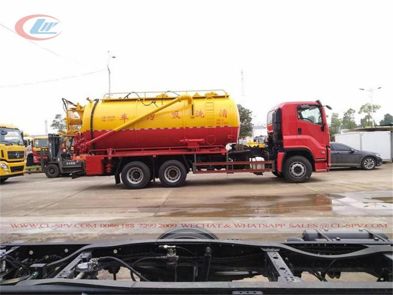 Isuzu 15000-20000 camión de succión de aguas residuales al vacío