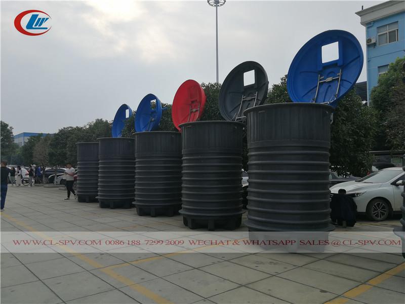 lixeira urbana enterrada - um novo sistema de transporte de lixo