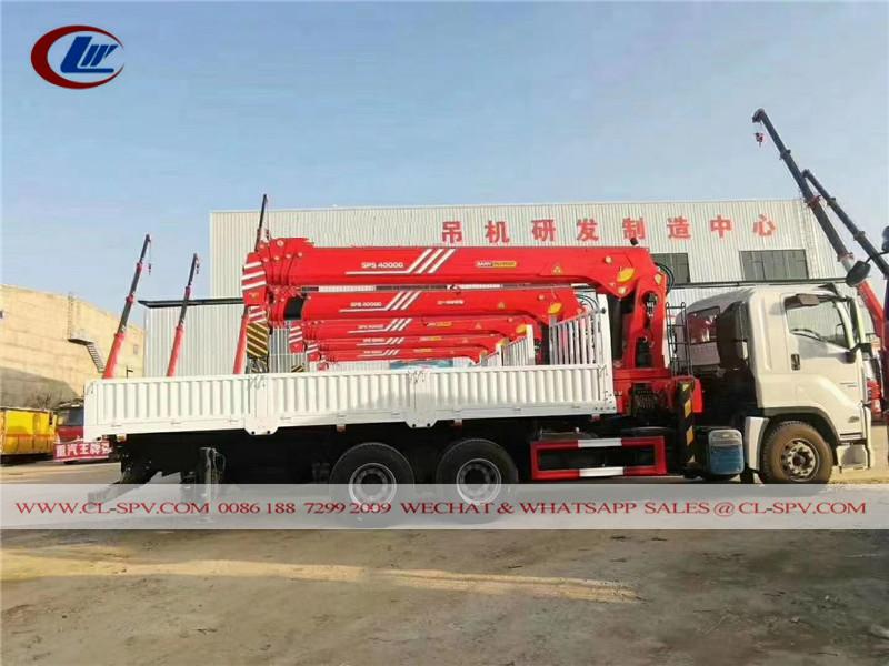 Gru sany palfinger SPS40000 montata su camion Isuzu GIGA
