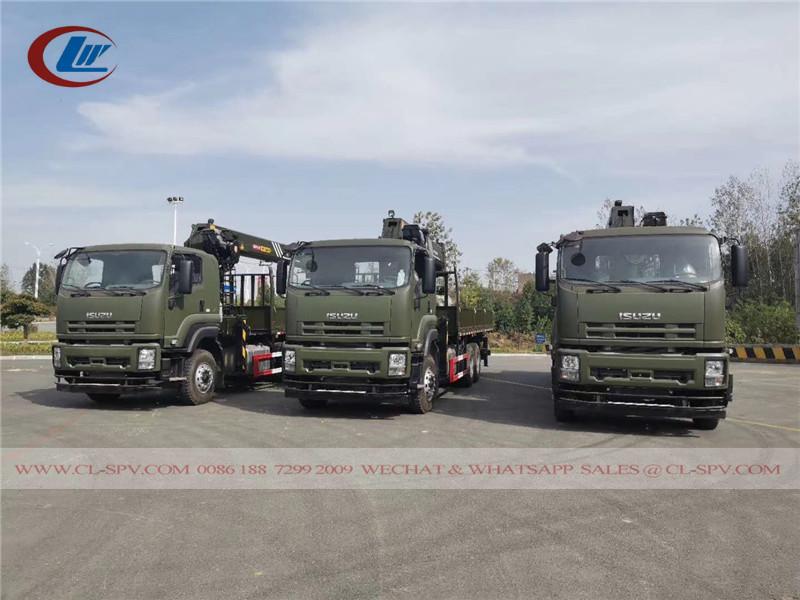 Китайский грузовик Isuzu с краном Palfinger