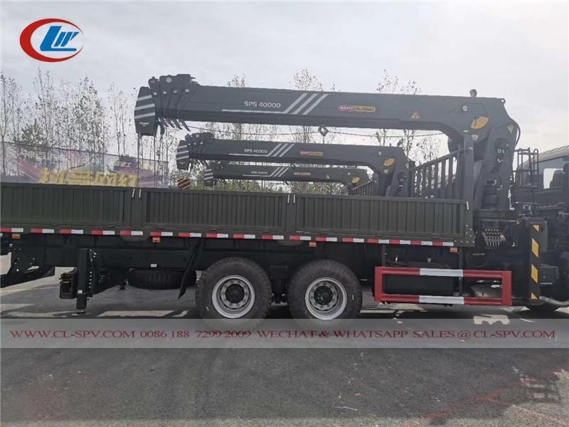 Китайский грузовик Isuzu с краном SANY Palfinger