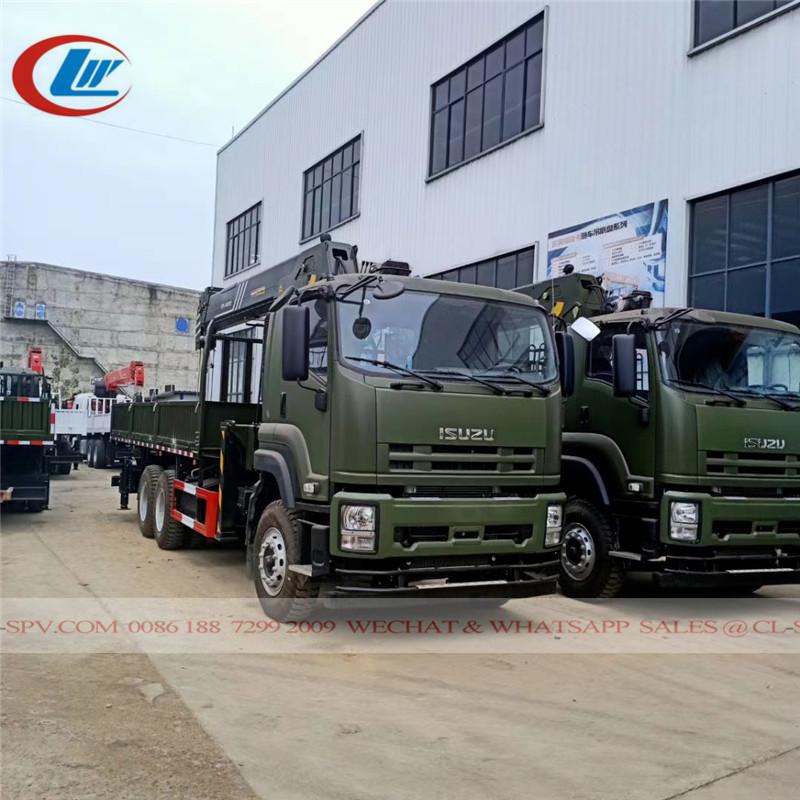 Camión militar Isuzu con SANY Palfinger 16 TONELADAS grúa