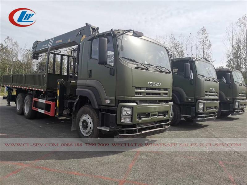 Isuzu 6x4 3 caminhão de eixos com guindaste SANY Palfinger