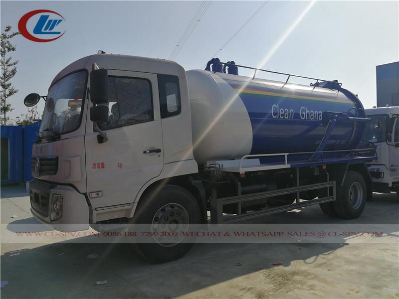 Dongfeng 10000 گھانا کے لئے لیٹر سیوریج ٹرک