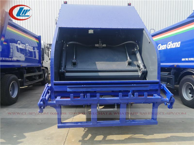 Système de chargement du camion compacteur d'ordures Dongfeng 15000L
