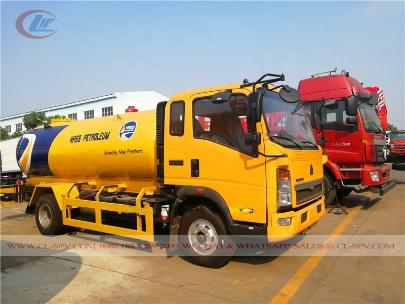 Camión de China 5000L GLP a Nigeria
