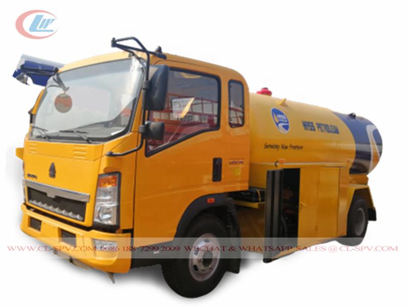 Cisterna HOWO 3T GLP a Nigeria