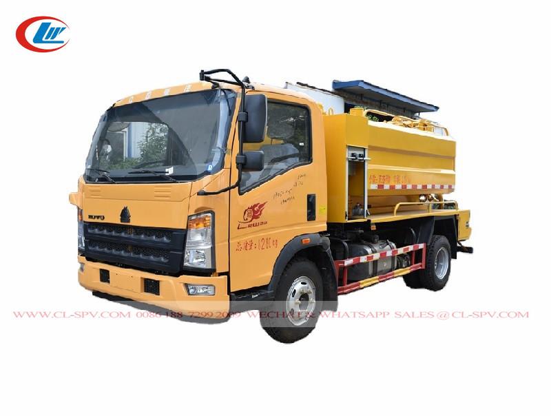 Camión de residuos de aguas residuales al vacío Howo