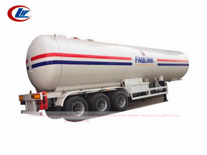 3 AXkes 60cbm lpg مقطورة لتوزيع غاز البترول المسال