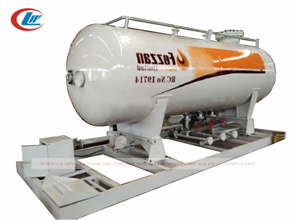 China 15000 litros gasolinera GLP