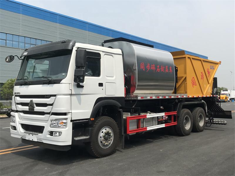 Camion asphalte à joint de gravier Howo Synchronous