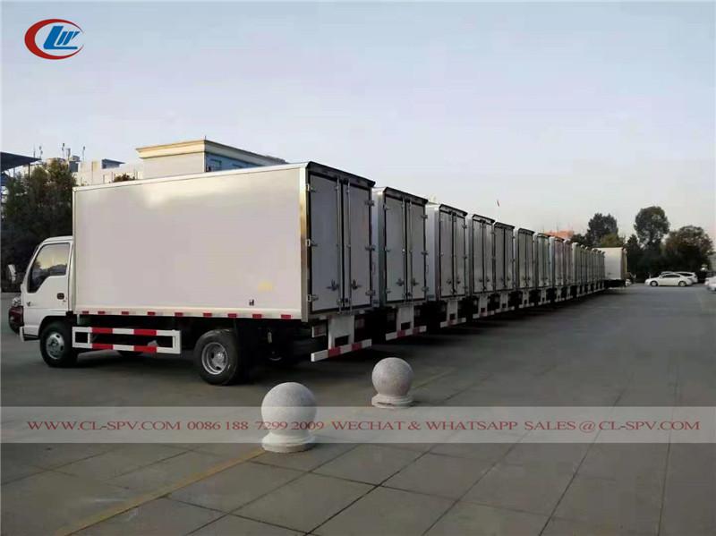 15 unidades Isuzu caminhão refrigerado para o Cazaquistão