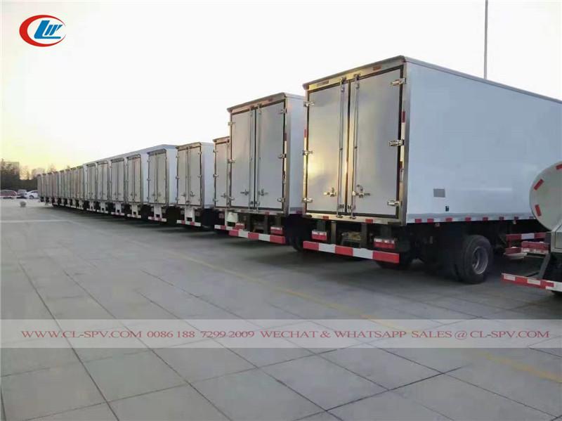 vendas no atacado de caminhões refrigerados Isuzu para o Cazaquistão