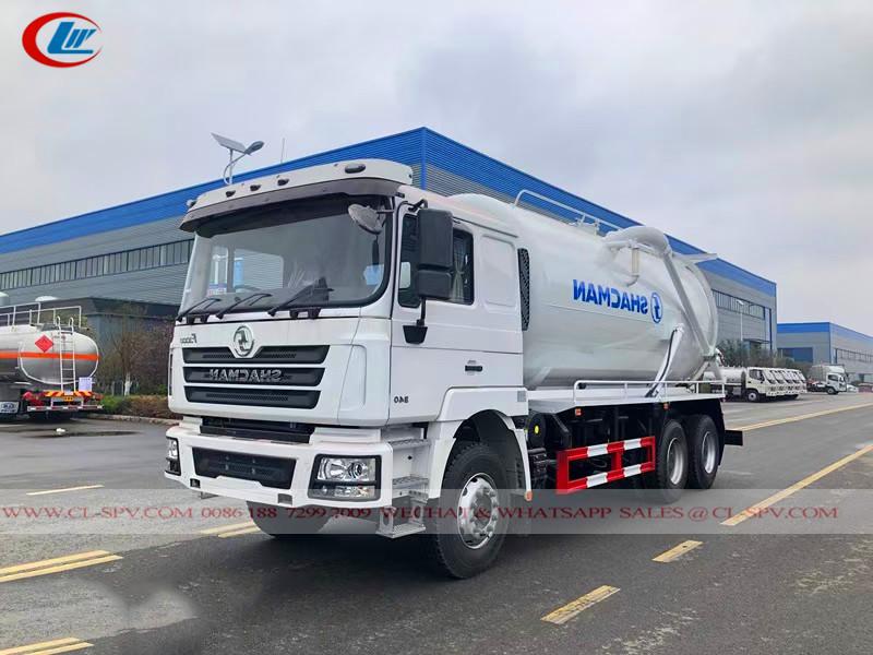 Shacman 20cbm vacuum sewage truck