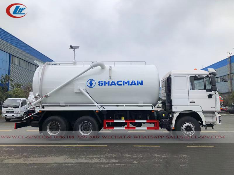 Shacman 6x4 20cbm真空排污车