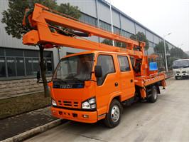 Isuzu 16 m aerial bucket truck