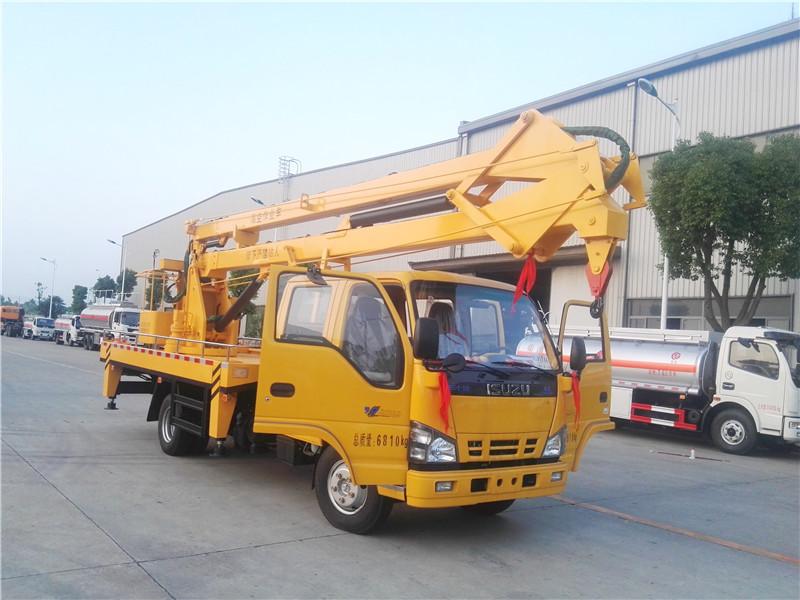 Isuzu 18 m caminhão caçamba aérea