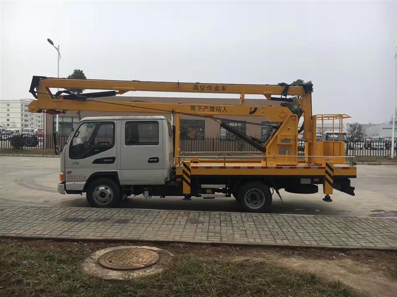 JAC 16 m camion benna aerea