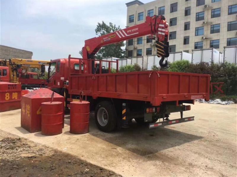 Sinotruk 5 Configuración de grúa montada sobre camión de tonelada