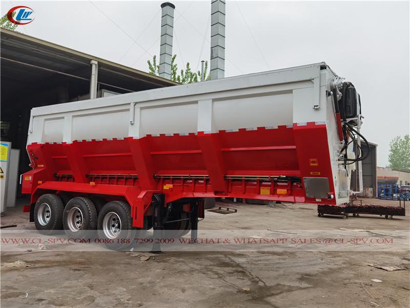 中国履带式输送机自卸拖车