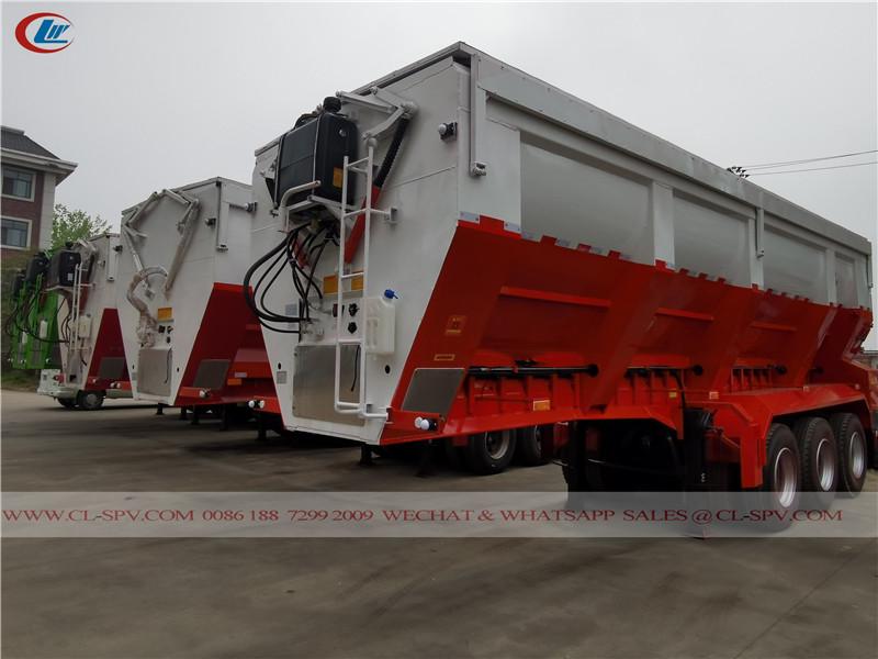 3 车轴履带式输送机自卸拖车