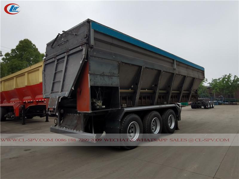 履带式输送机自卸自卸拖车
