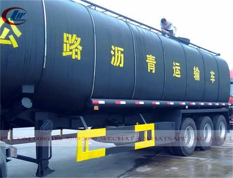 3 remolque de transporte de betún de ejes