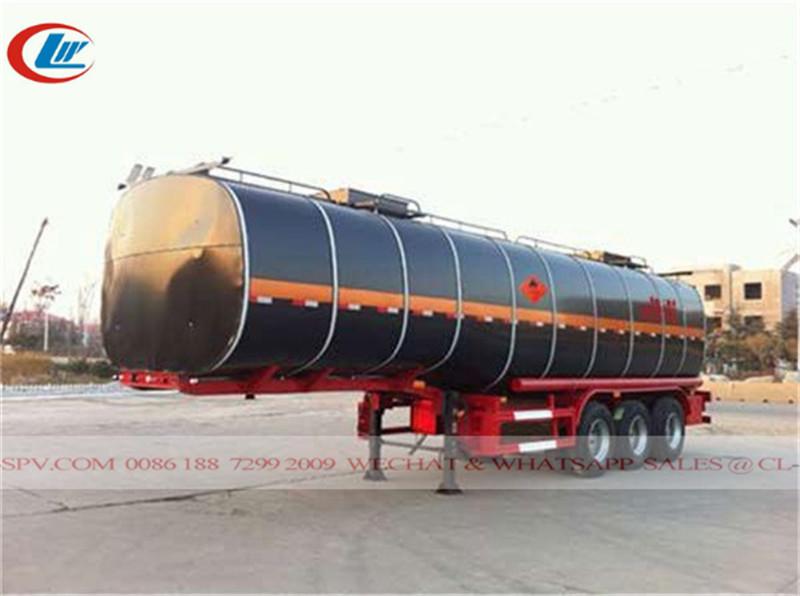 3 axles asphalt transport trailer