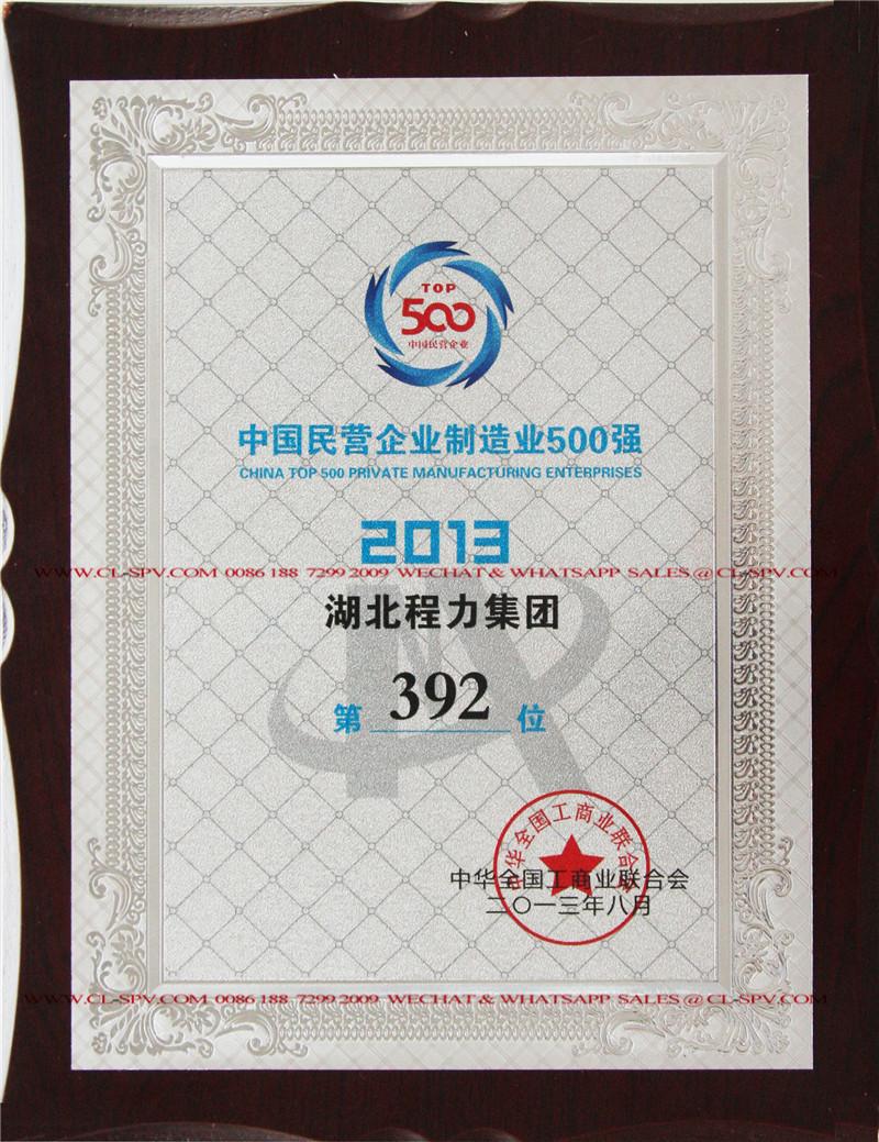 চায়নাটপ 392 বেসরকারী উত্পাদন উদ্যোগ নং 3 - 2013
