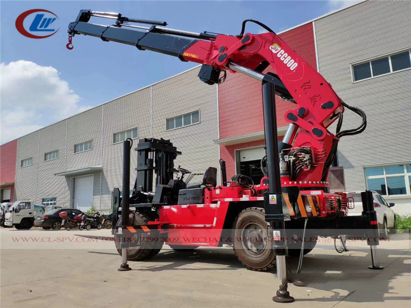 JW CC800 Forklift with crane