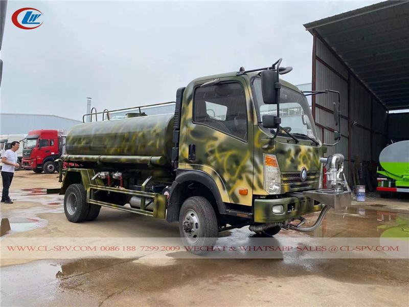 Howo 5000 litri camion di acqua