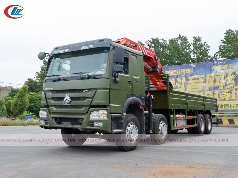 howo 371 truck & sany 25 tons crane