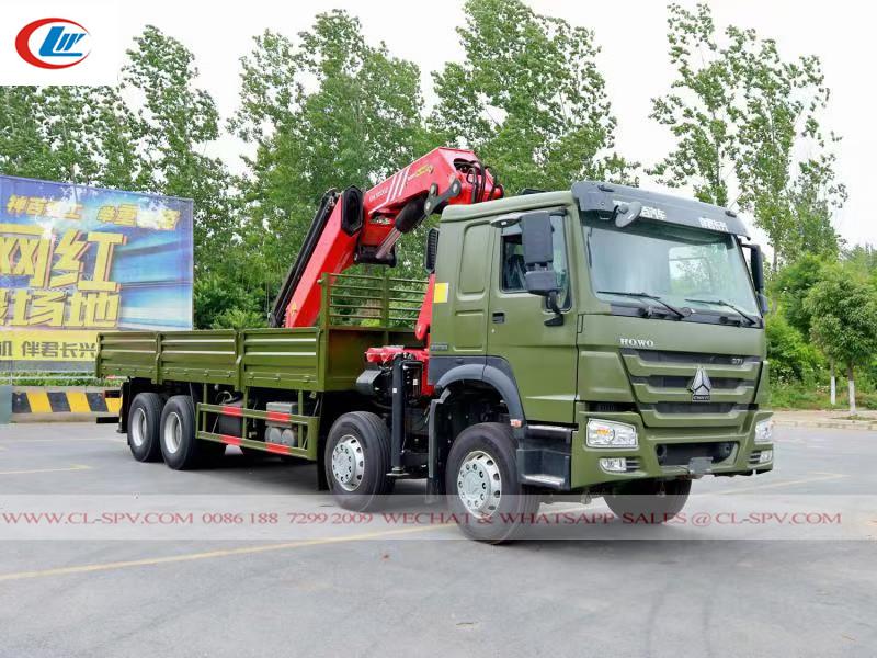 Howo truck mounted sany crane