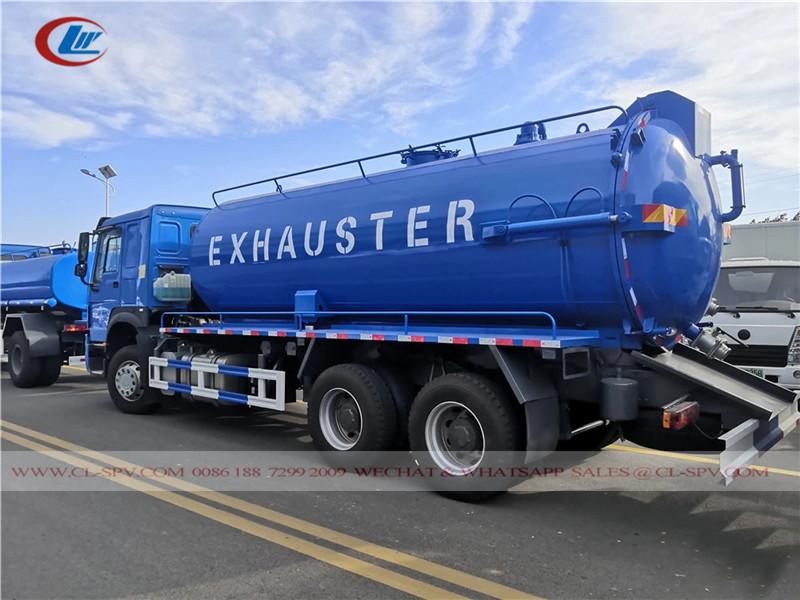 Howo 3 Achsen 18000-20000 Liter Vakuum Abwasserwagen