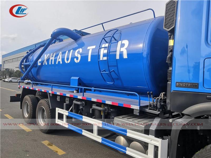 Howo 20000 Liter Vakuum Abwasserwagen