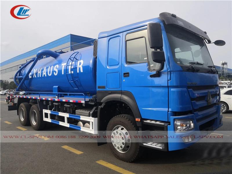 Howo 15000 Liter Vakuum Abwasserwagen