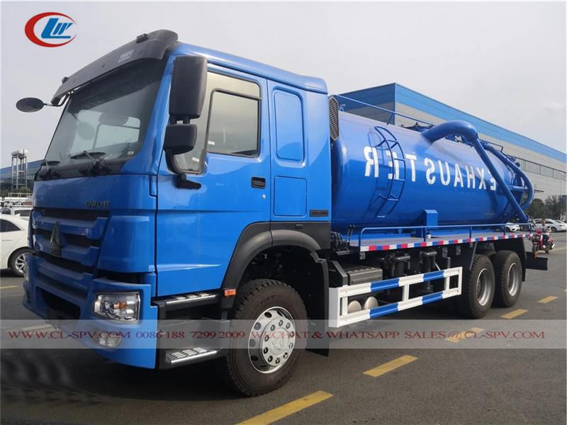 Howo vacuum sewage truck