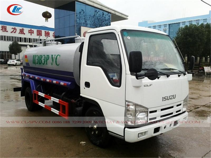 Isuzu 100P 5000 caminhão tanque de água litros