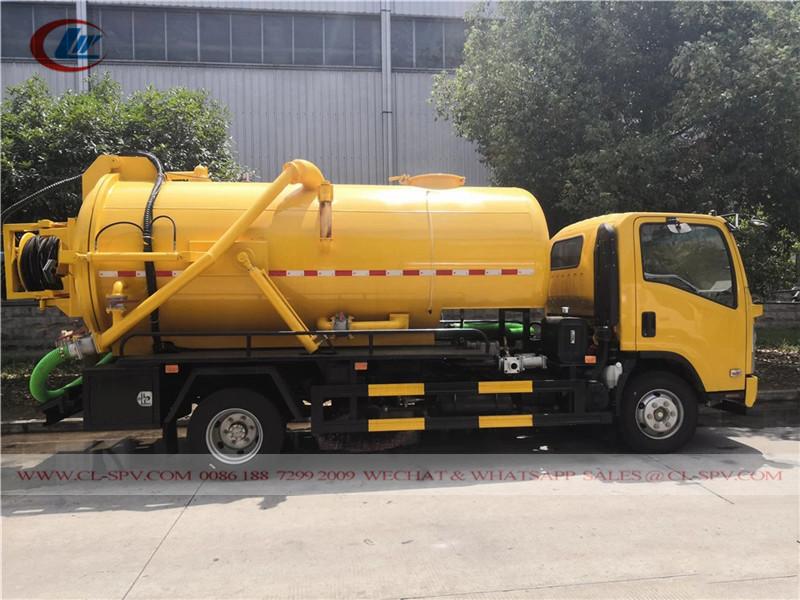 Isuzu 5000L + 1000L вакуумная машина для сточных вод