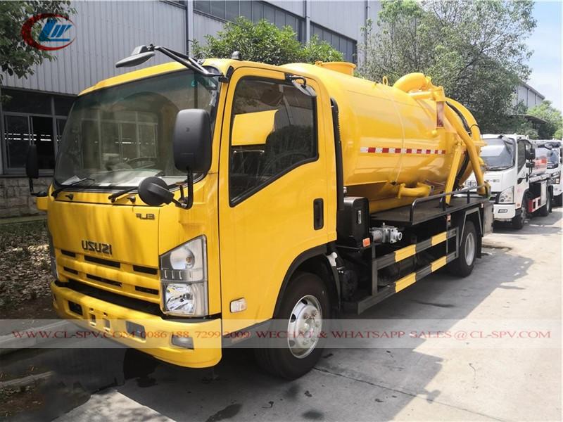 Camión de succión de aguas residuales al vacío Isuzu 11